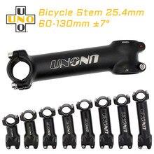 Uno haste da bicicleta de estrada 7 graus haste da bicicleta 25.4mm alumínio bmx stem guiador peças da bicicleta mtb stem acessórios