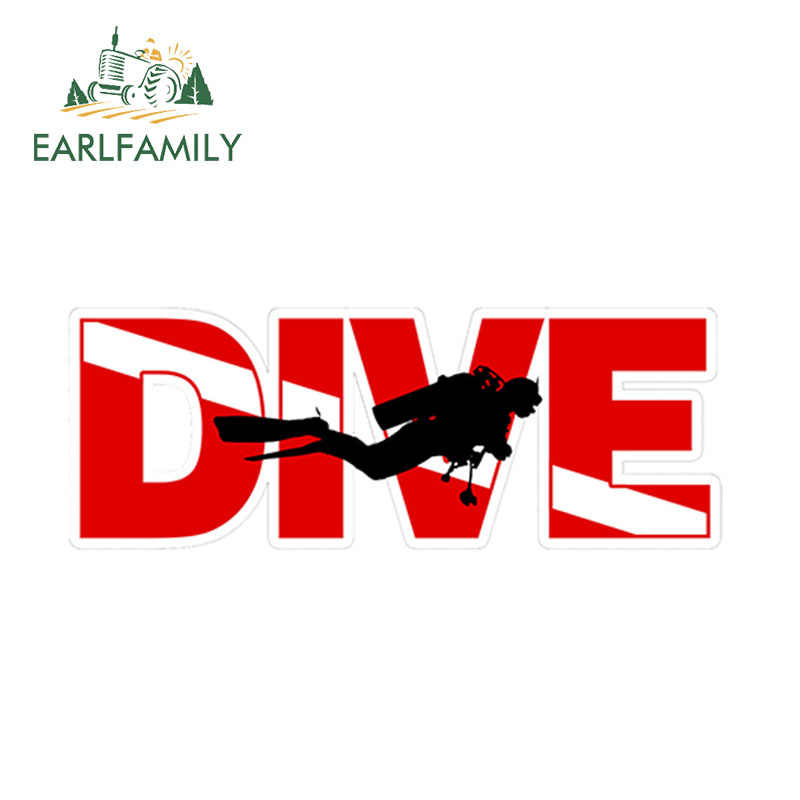 Earlfamily 15Cm X 5.2Cm Scuba Diver Uitsparing Vlag Sticker Vinyl Decal Bumper Auto Vrachtwagen Boot Grappige Auto Stickers