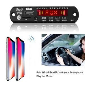 Image 5 - Kebidu 5V 12V Bluetooth MP3 WMA Decoder Board Wireless Audio Modul USB TF Radio Für Auto Zubehör Farbe screen Audio Player