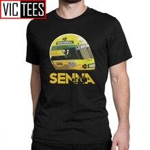 T Shirts Ayrton Senna Helm Tops 1 Rennen Tees Mann Baumwolle Kurzarm T-Shirts Klassische Jugend Männer Baumwolle
