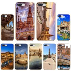 PLAZA DE ESPANA Sevilla Spain Loving Silicone Phone Case For Huawei Honor Y5 2018 2019 8S 9X Pro 20 10 10i Lite(China)