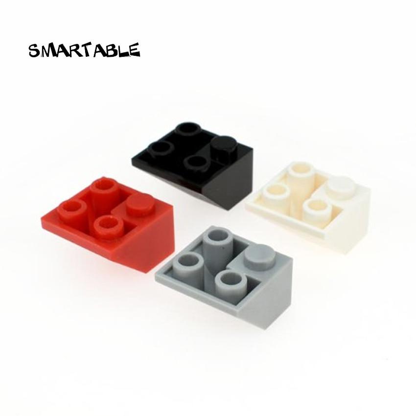 Smartable Brick Slope Inverted 2x2 Building Blocks MOC Part Toy For Kid Creative Compatible Major Brands Technic 3676 50pcs/lot