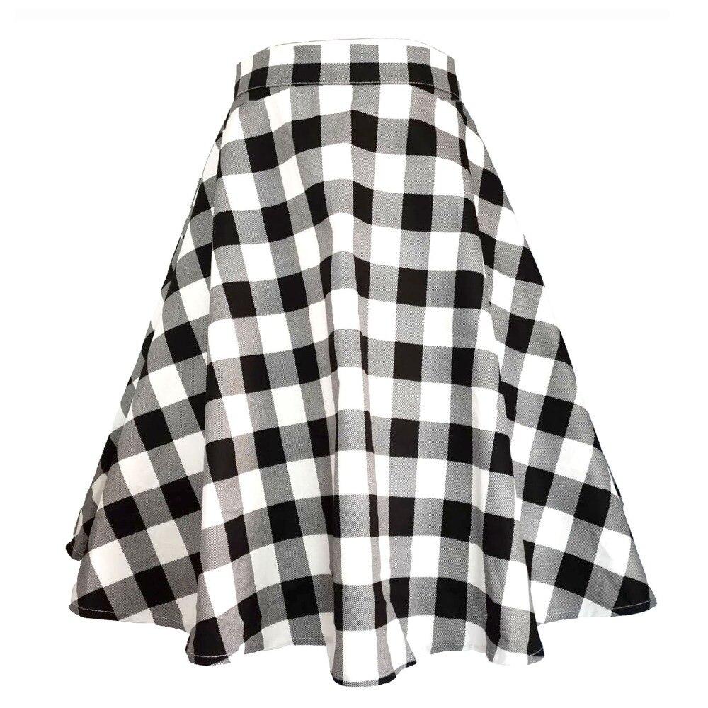 50 s, Женская юбка миди, винтажная, в клетку, консервативный стиль, для студентов, с поясом, на молнии сбоку, дизайн, плиссированная