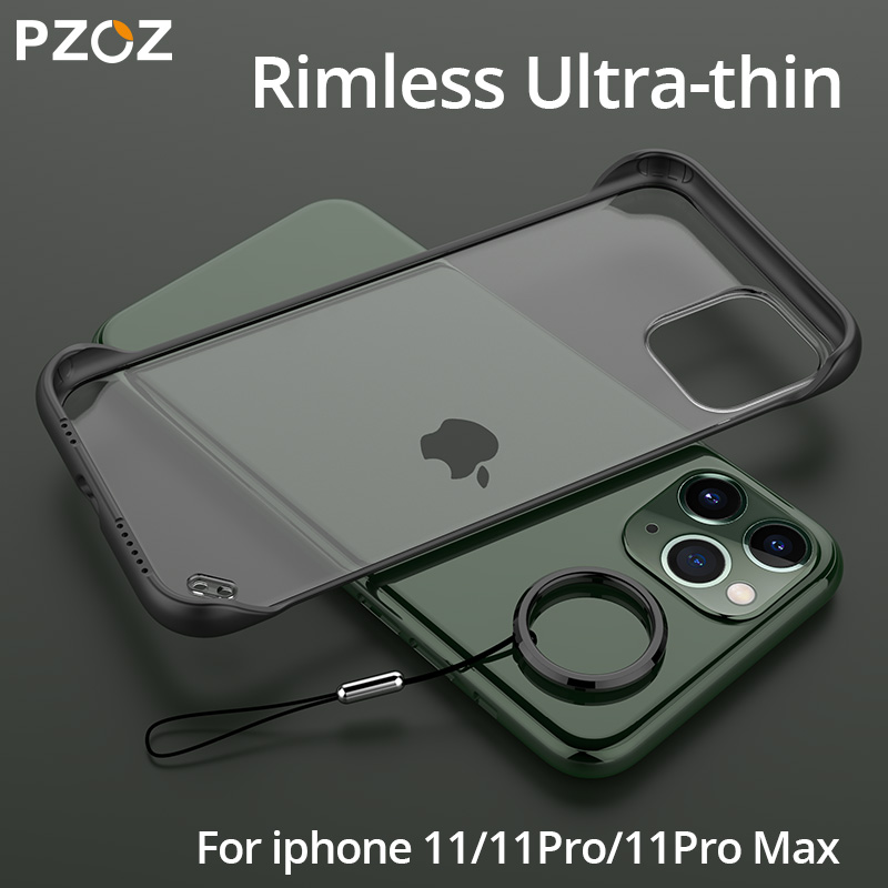 PZOZ For Apple iPhone 11 Pro Max X Xr Protection Case Xs Max 7 Case 8 6S Plus Rimless Luxury Case Ultra Thin Back Cover For iPhone7 iPhone8 iPhonex iPhone11 Smart Phone 5.8 6.1 6.5 Inch 2019 Protective Case Accessories