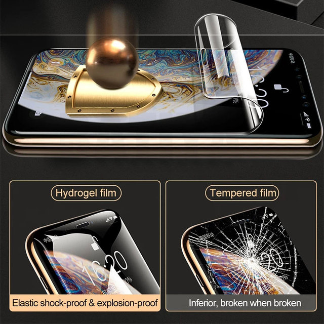 Screen Protector For iPhone 7 8 Plus 6 6s SE 2 Full Cover Hydrogel Film Soft Protective Film On iPhone 11 X XR XS Max 12 Pro Max 2