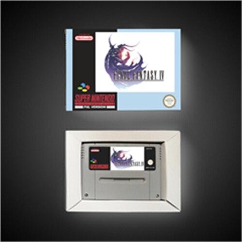 Jeu Final fantaisie IV 4   EUR Version RPG jeu carte batterie économiser avec boîte de vente au détail