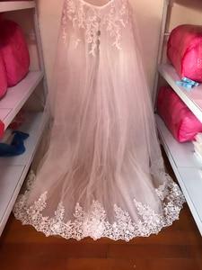 Image 5 - Fansmile 2020 New 2 in 1 Arabic Amazing Detachable Train Mermaid Wedding Dress Long Sleeve Lace Bridal Wedding Gowns FSM 590T