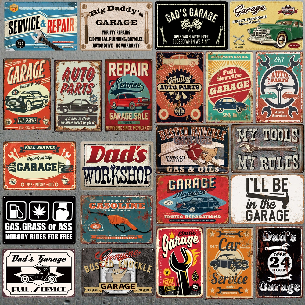 Retro Tin Metal Sign Vintage Plate Wall Pub Home Art Decor Car Iron Poster Cuadros XP-1A