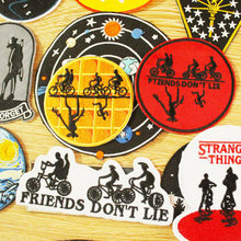 Stranger Things Pacthes For Clothing Stripes Iron On Patches On Clothes Mountains Embroidered Patches For Clothing Accessories