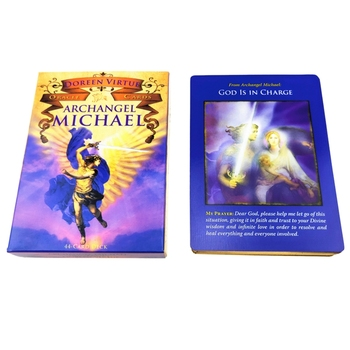 Archangel M-ichael Oracle Cards Full English 44 Cards Deck Tarot Astrology Divination Fate Family Party Board Game  недорого