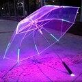 Креативный Зонт многоцветный светодиодный светящийся крутой светящийся зонтик различимые ночью защита подарки
