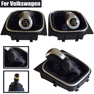 Image 5 - For VW Volkswagen Golf 5/6 MK5/6 Scirocco(2009) octavia Car Gear Shift Knob Lever Pen 5 6 Speed handle ball boot cover Gaitor
