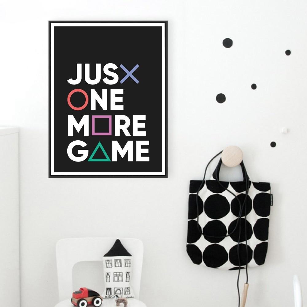 Just-One-More-Game-Poster-Prints-Gamer-Joystick-Symbols-Gamepad-Controller-Boys-Room-Wall-Art-Canvas (1)