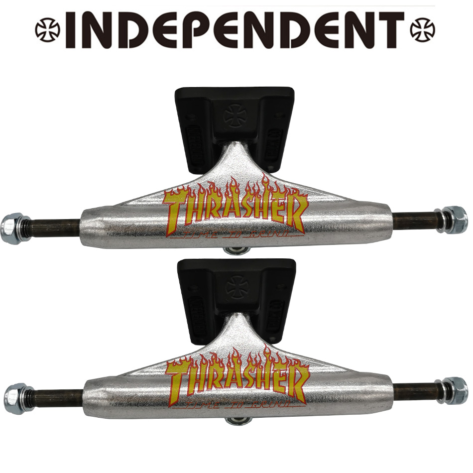 New Design 1 Pair Factory Storage INDEPENDENT 5.25inch Skateboard Trucks Magnalium Truck Carbon Steel Kingpin Skate Trucks