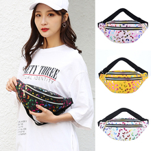 Waist-Bag Women Mobile-Phone-Laser Travelling Waterproof Portable New Q Butterfly-Print