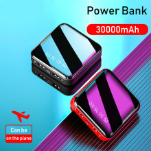 Mini Power Bank 30000mAh For iPhone X Xiaomi Mi Powerbank Po