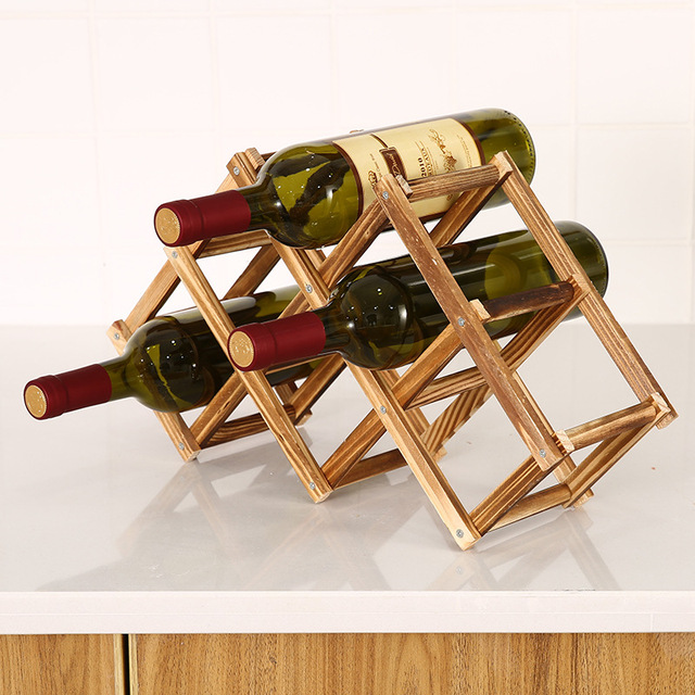 Collapsible Wooden Wine Rack 2