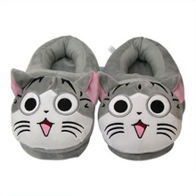 Hello Kitty Slippers Funny Slippers lovely Plush Cat Slippers  Indoor Soft Shoes Floor Lovers Shoes Winter Warm Women Slides стоимость