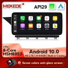 Radio Multimedia con GPS para coche, Radio con reproductor Dvd, Android 10, 4G LTE, 8 núcleos, 4 + 64G, navegador, para Mercedes Benz clase GLK X204 2004-2011
