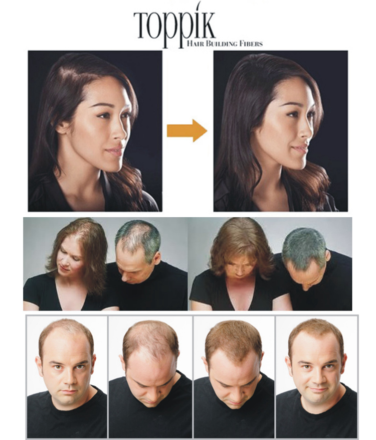 9 cores toppik conjunto fibras do cabelo