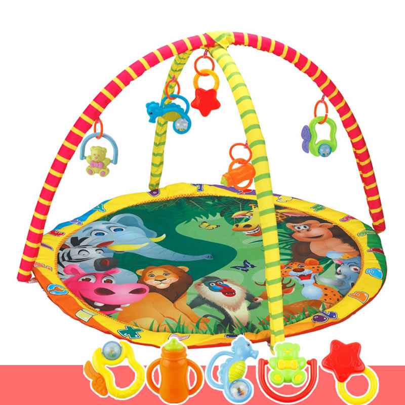 High Quality Kids Children Baby Fitness Rack Game Blanket Crawling Carpet Mat Gym Toys Intellectual Development