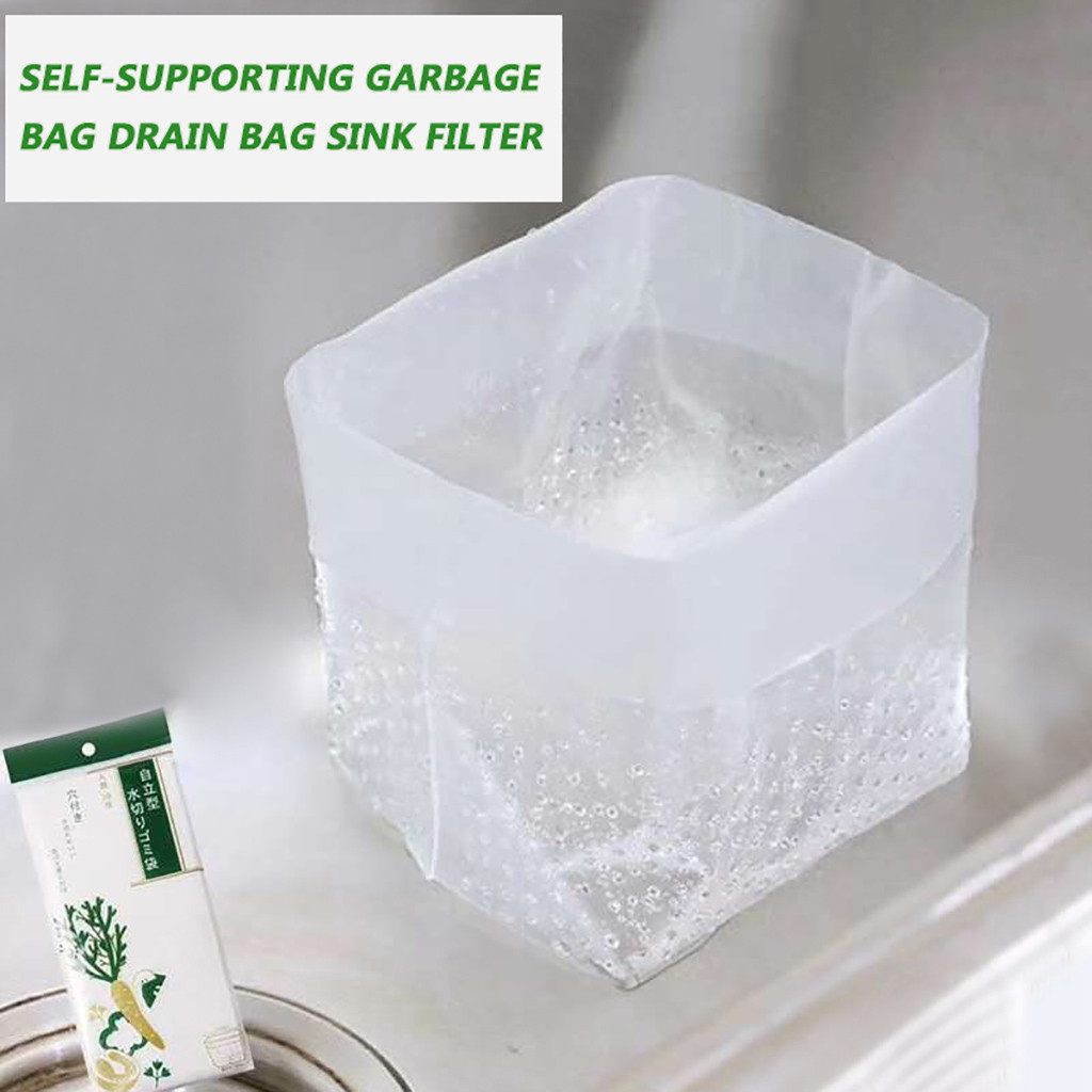 Kitchen Sink Filter Bag Self-Supporting Garbage Drain Bag Sink Filter 60PC Kitchen drain sink filter bag kitchen accessory