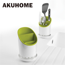 Kitchen Cutter Tableware Storage Box Racks Cutlery Spoon Fork Holder Organization Tool Bucket Plastic Drainable Chopsticks