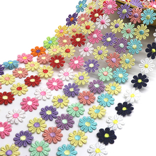 K15314 Colorful Daisy Flower Lace Trim Knitting Wedding Embroidered Diy Handmade Patchwork Ribbon Sewing Supplies Crafts