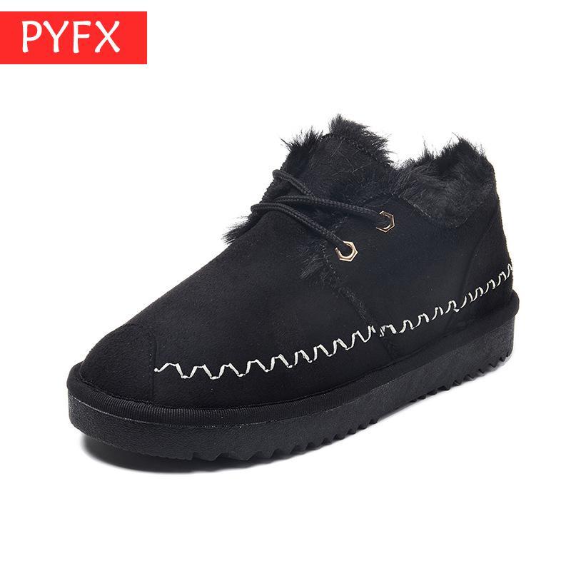 Лидер продаж; зимние теплые бархатные женские черные зимние ботинки на плоской нескользящей подошве с пряжкой корейские короткие красные б...