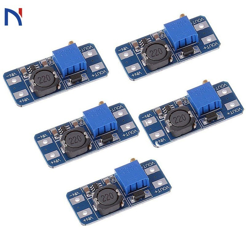 MT3608 <font><b>DC</b></font>-<font><b>DC</b></font> Einstellbar Boost Modul 2A <font><b>DC</b></font> <font><b>dc</b></font>-Boost-Step up Converter Modul 2 V-24 V zu 5V 9V <font><b>12V</b></font> 28V Power Module Booster image