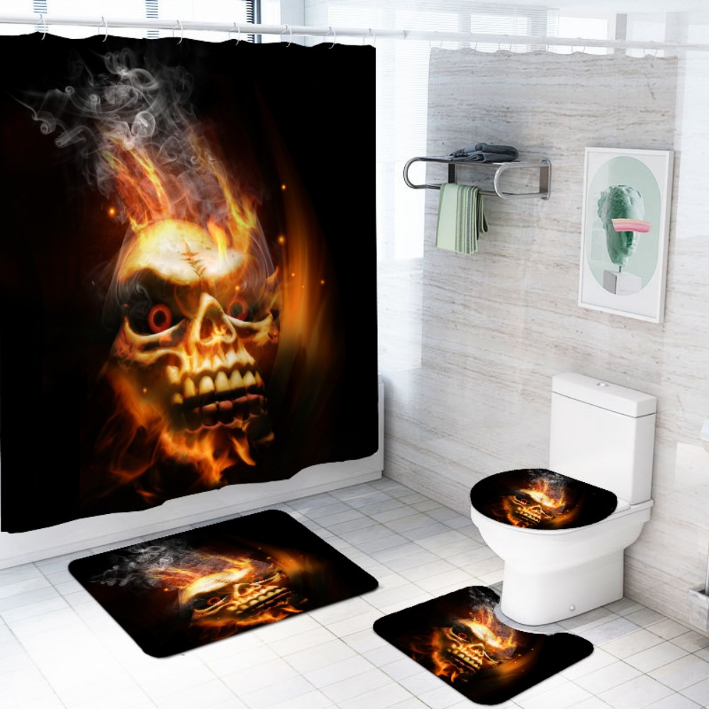 Gothic Shower Curtains Polyester Fabic