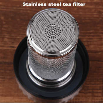 Double Wall Borosilica Glass Water Bottle Infuser Filter Puer Tea Brief Teacup Car Tour Outdoor Creative Carafe Drinkware Gift
