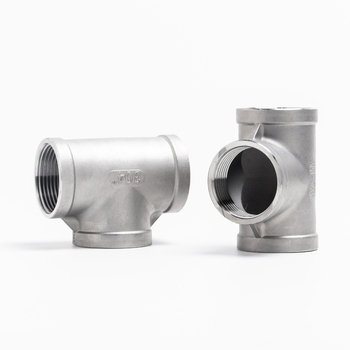 SS304 Stainless Steel Female Threaded 3 Way Tee T Pipe Fitting  1/4 3/8 1/2 3/4  BSP Threaded For Homebrewing 1 4 tee 3 way f f f threaded pipe fittings stainless steel ss304 female x female x female 3 ways tee 39mm length