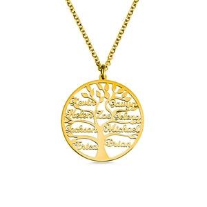 Image 1 - AILIN 2020 사용자 정의 목걸이 1 9 개인 된 펜 던 트 생명의 나무 가족 이름 목걸이 여성을위한 크리스마스 보석 어머니 선물