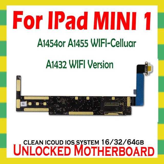 A1432 wifiVersion A1454 o A1455 Originale unlock icloud per Ipad MINI 1 Scheda Madre per Ipad MINI 1 schede Logiche con IOS di Sistema