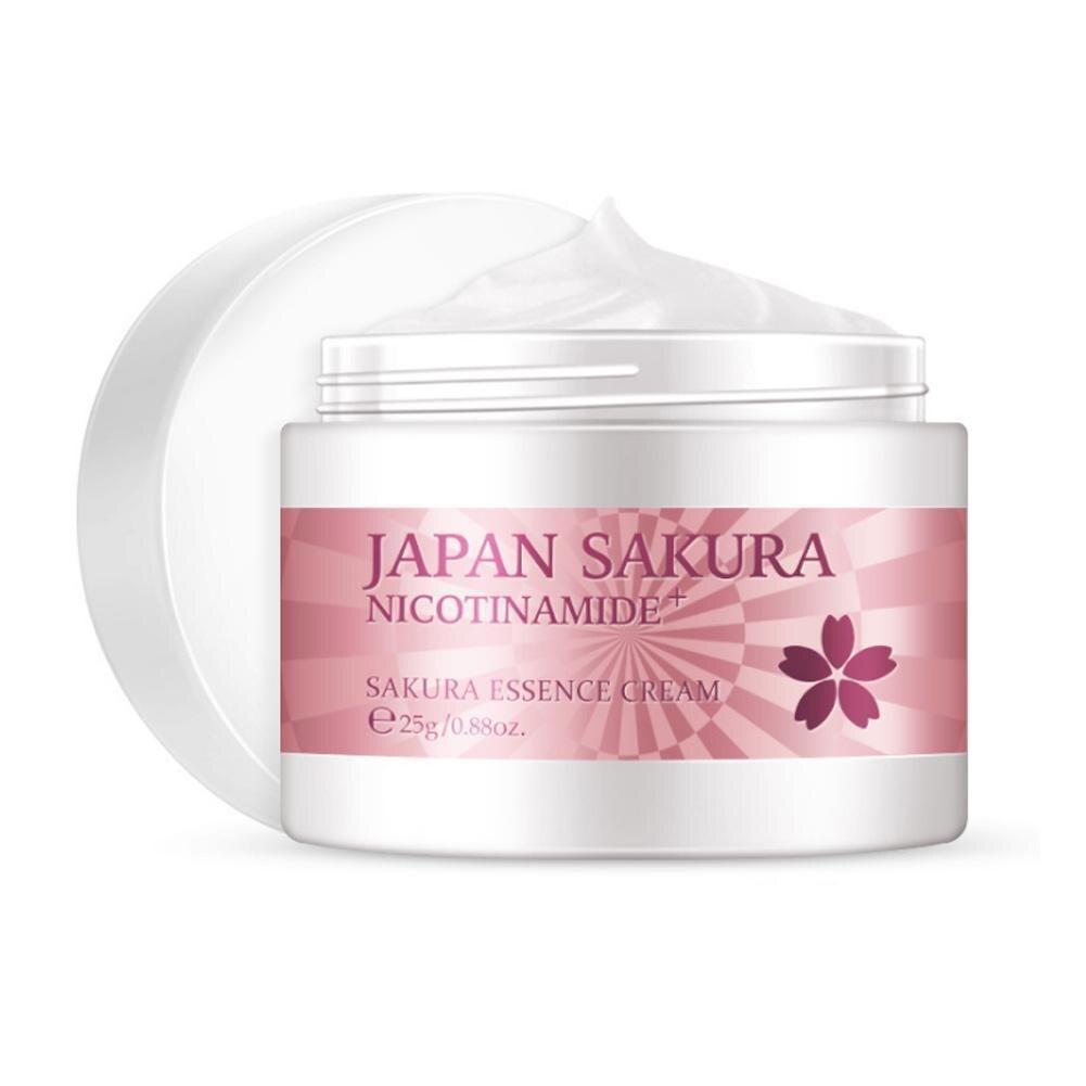 Japan Sakura Essence Face Cream For Face Moisturizer Whitening 25g Care Cream Anti Serum Skin C Anti Aging Wrinkle Vitamin M5A5