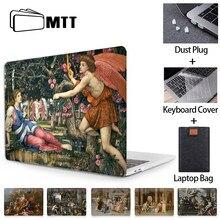Mtt caso do portátil para macbook ar pro 11 12 13 15 16 barra de toque pintura a óleo capa para macbook ar 13 polegada funda a1932 a2179 a2289
