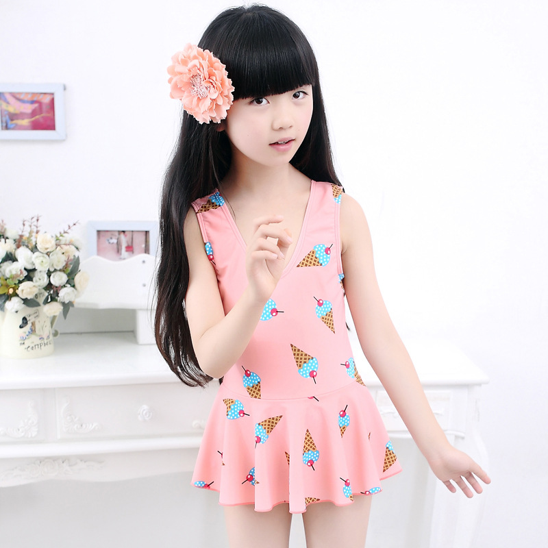 KID'S Swimwear Girls Korean-style Dress-Big Boy Tour Bathing Suit Princess Students South Korea GIRL'S Swimwear