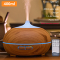 400 мл увлажнитель воздуха Арома-диффузор дистанционный пульт Xiomi увлажнитель древесины создатель тумана ароматерапия Воздухоочистители дл...