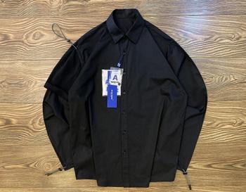 Ader Error High Quality Solid Color Shirts Men Women Ader Error Vader Shirt Irregular Drawstring Vice Sleeve Ader Error Blouse error analysis