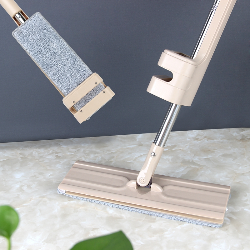 Self-Wringing and 360 Degrees Rotating Spin Mop for Household Wooden Floor Cleaning