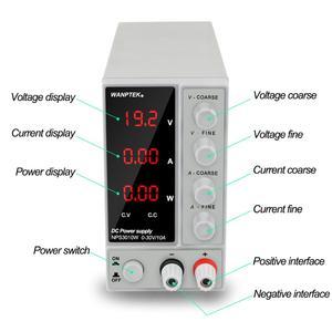 Image 2 - NPS3010W Labor Netzteil 30V10A Strom Regler Schalter Netzteil Einstellbar Spannung Regler Bank Quelle Digital