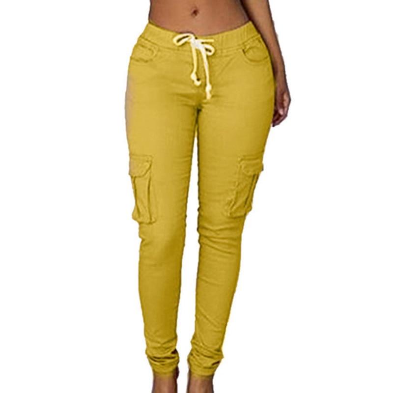 Elasticity Waist Women Cargo Pants Sexy Ladies Casual Harem Pant Women Military Clothing Multi-Pocket Joggers Sweat Pants