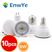 10pcs LED Light GU10 MR16 GU5 3 E27 E14 Bulb 2W 3W 4W 5W 6W 220V Lampada LED Condenser lamp Diffusion Spotlight Energy Saving cheap EnwYe Cool White(5500-7000K) 2835 bedroom 249 Lumens Under 20000 hours LED Bulbs Spotlight Bulb Edison ROHS 120°