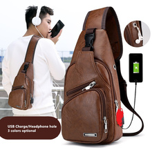 Shoulder-Bag Usb-Charging Outdoor-Sports Business Male Men's Casual New