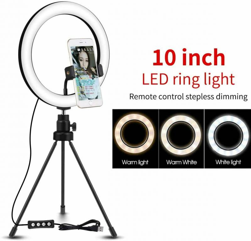 10inchLED Ring Light W  Tripod Stand Kit For Camera Phone Selfie Video Youtube Live Photography Ringlight Dropshipping