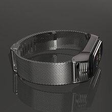 Para mi banda 5 pulseira de pulso para xiaomi banda 4 correas pulseiras pulseira miband 3 opaska metal milanês xiomi pasek nfc