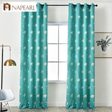 NAPEARL 1 Piece Whales Jacquard Planet Curtains Home Decor Bedroom Windows Child All Match Modern Draperies Semi Shade Elegant(China)