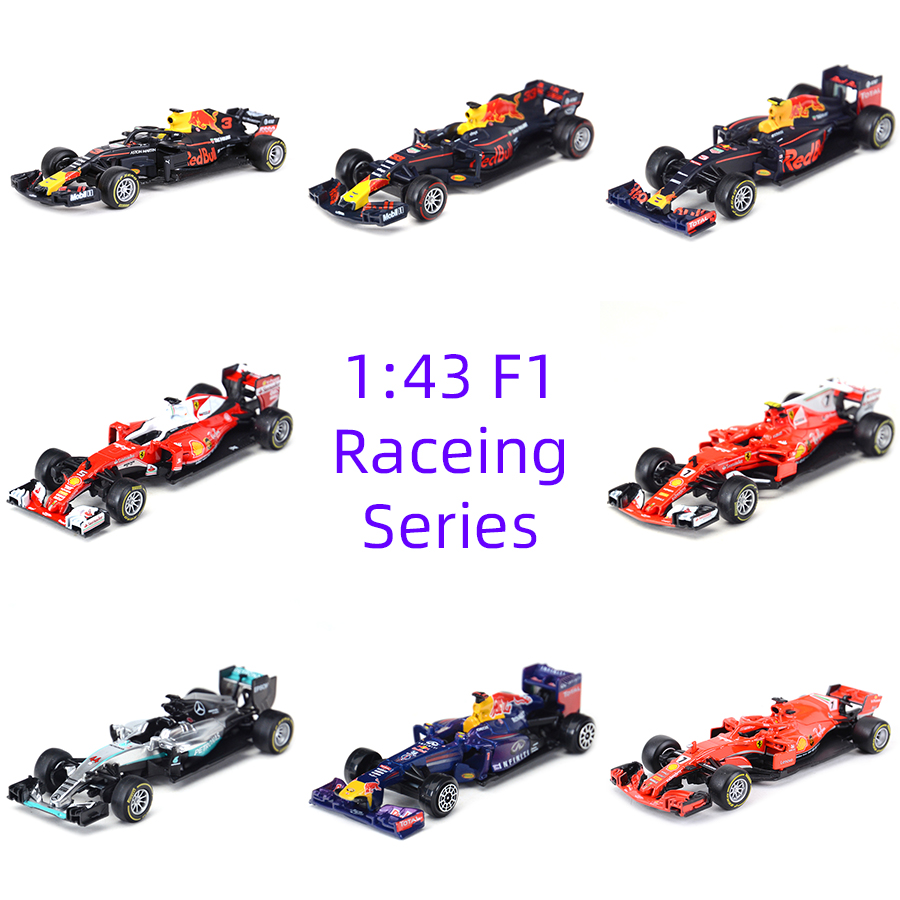 Bburago 1:43 2018 SF71H SF70H SF16H RB12 RB13 RB14 W04 F1 Racing Formula Car Static Simulation Diecast Alloy Model Car
