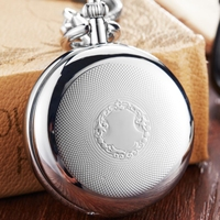 Antique Vintage Copper Mechanical Pocket Watch Silver Gold Top Brand Luxury Mechanical FOB Chain Necklace Male Clock Women Gift